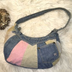 Vintage Rampage Denim/Corduroy Patchwork Purse BAG